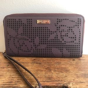 Kate Spade Cameron St Wallet Perforated wristlet